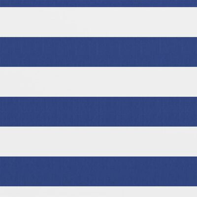 vidaXL Balcony Screen White and Blue 90x300 cm Oxford Fabric