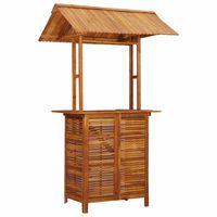 vidaXL Outdoor Bar Table with Rooftop 122x106x217 cm Solid Acacia Wood