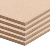 vidaXL 20 pcs MDF Sheets Square 60x60 cm 2.5 mm