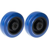 """125mm 5"""" wheel blue rubber with nylon centre strong 400kg capacity,"""
