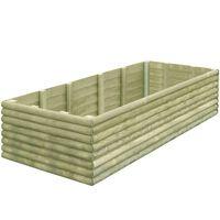 vidaXL Garden Raised Bed 206x100x48 cm Impregnated Pinewood