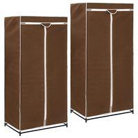 vidaXL Wardrobes 2 pcs Brown 75x50x160 cm