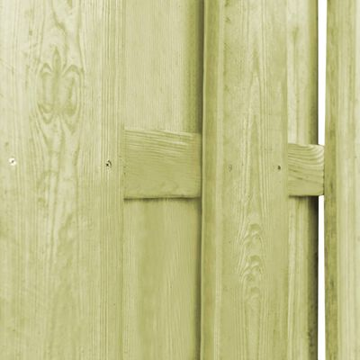 vidaXL Hit and Miss Fence Panel Pinewood 180x180 cm Green