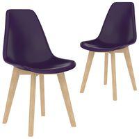 vidaXL Dining Chairs 2 pcs Purple Plastic