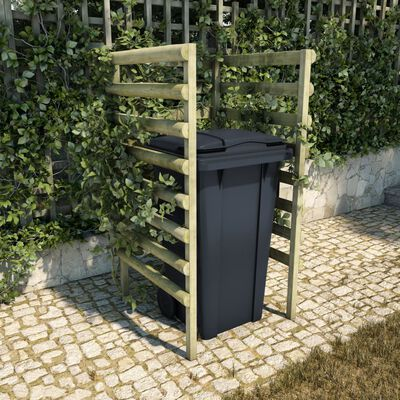 vidaXL Single Bin Shed Green 70x80x150 cm Impregnated Pinewood