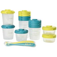 Beaba Food Storage Container Set 1st Meal Set Green and Blue