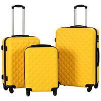 vidaXL Hardcase Trolley Set 3 pcs Yellow ABS