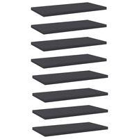 vidaXL Bookshelf Boards 8 pcs Grey 40x20x1.5 cm Chipboard