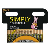 Duracell Simply Aaa Non Rechargeable Batteries, 12 Pack