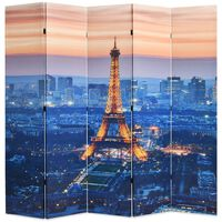 vidaXL Folding Room Divider 200x170 cm Paris by Night