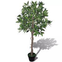 vidaXL Artificial Bay Tree with Pot 120 cm