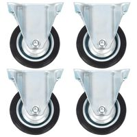 vidaXL Fixed Casters 4 pcs 75 mm