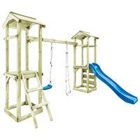 vidaXL Playhouse with Ladder, Slide and Swing 300x197x218 cm Wood