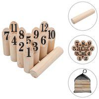 vidaXL Number Kubb Game Set Wood