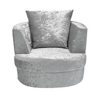 Blacy Small Swivel Chair Silver