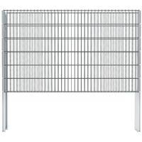 vidaXL 2D Gabion Fence Galvanised Steel 2.008x1.23 m 4 m (Total Length) Grey