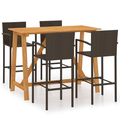 This garden bar set has an elegant design and is the focal point of your garden, patio or terrace.