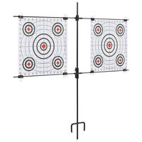 vidaXL Target Paper Stand with Shooting Papers 78x76 cm Steel