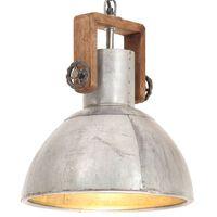 vidaXL Industrial Hanging Lamp 25 W Silver Round 30 cm E27