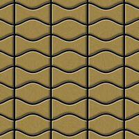 Alloy Kismet & Karma-ti-gb Metal Mosaic Titanium Gold