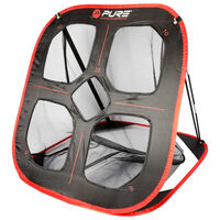 Pure2Improve Pop-Up Golf Practice Net 82x80x88cm Black and Red