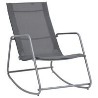 vidaXL Garden Swing Chair Grey 95x54x85 cm Textilene
