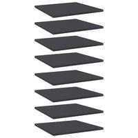 vidaXL Bookshelf Boards 8 pcs Grey 40x40x1.5 cm Chipboard