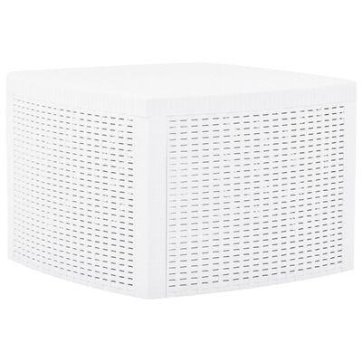 vidaXL Side Table White 54x54x36.5 cm Plastic
