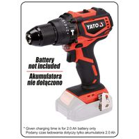 YATO Brushless Hammer Drill Driver without Battery 18V 42Nm