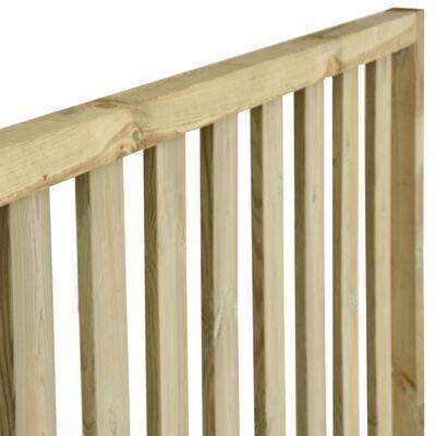 vidaXL Garden Fence Impregnated Pinewood 12.38x1.7 m