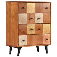 vidaXL Chest of Drawers 60x30x75 cm Solid Acacia Wood