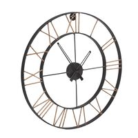Large Industrial Style Clock Lincoln Metal 62x5x62cm (HxDxW)