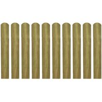 vidaXL Impregnated Fence Slats 10 pcs Wood 60 cm