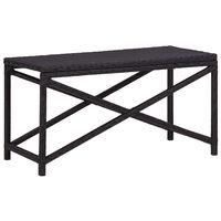 vidaXL Garden Bench 80 cm Poly Rattan Black