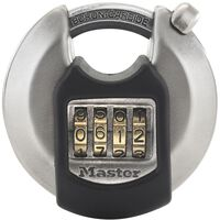 Master Lock Discus Padlock Excell Stainless Steel 70 mm M40EURDNUM