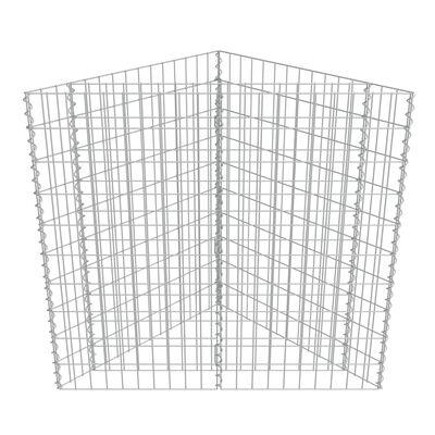 vidaXL Gabion Raised Bed Galvanised Steel 75x75x100 cm
