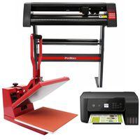 PixMax 38cm Clam Heat Press, Vinyl Cutter & Printer Bundle
