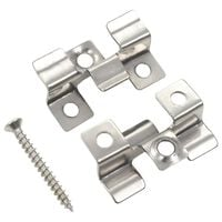 vidaXL 100 pcs Decking Clips with 200 Screws Stainless Steel