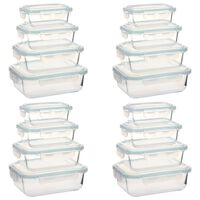 vidaXL Glass Food Storage Containers 16 Pieces