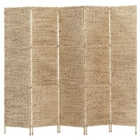 vidaXL 5-Panel Room Divider 193x160 cm Water Hyacinth