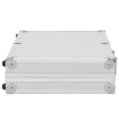 vidaXL Gun Case Aluminium ABS Silver