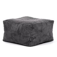 Icon Theo Corduroy Beanbag Footstool, Cord Pouffe Bean Bags