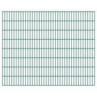 vidaXL 2D Garden Fence Panels 2.008x1.63 m 32 m (Total Length) Green
