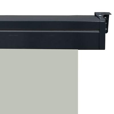 vidaXL Balcony Side Awning 100x250 cm Grey