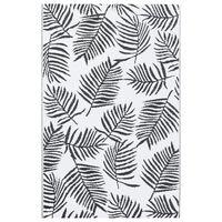 vidaXL Outdoor Carpet White and Black 120x180 cm PP