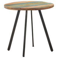vidaXL Dining Table 80 cm Solid Reclaimed Wood