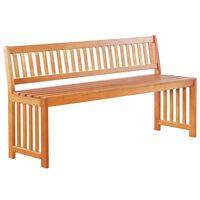vidaXL Garden Bench 137 cm Solid Eucalyptus Wood