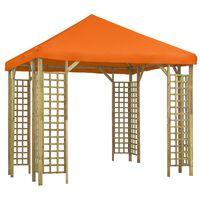 vidaXL Gazebo 3x3 m Orange