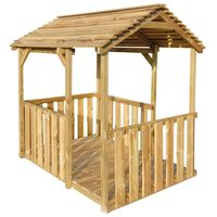 vidaXL Outdoor Pavilion Playhouse 122.5x160x163 cm Pinewood