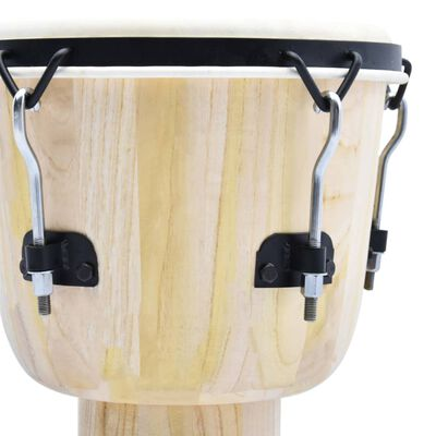 vidaXL Djembe Drum with Rod Tension 12 Goat Skin
